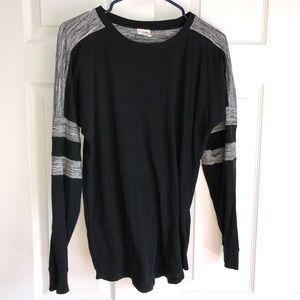 black and gray shirt